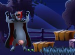 Game-harvest-with-a-cow-candy-disguised-as-dracula